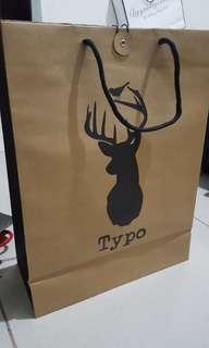 Typo paperbag by cotton on