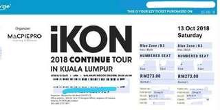 IKON Continue Tour in KL 2018