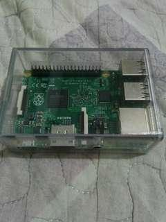 Raspberry Pi 2 with Clear case