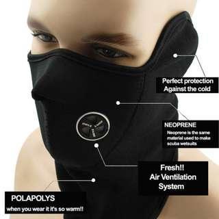 Unisex Windproof DustProof Half Face Mask for Winter Motorcycle Cycling Hiking Skateboard Skiing Fishing Hiking Hunting (BLACK)
