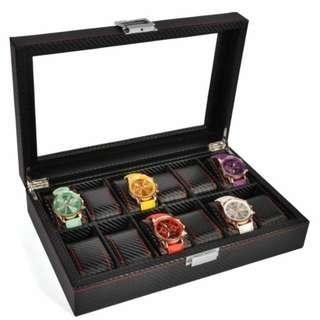 12 Slot Full Carbon Watch Display Storage Box