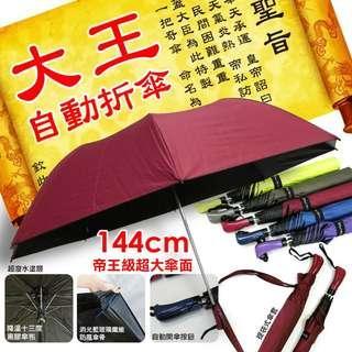 現貨-R12-TwinDragon 雙龍牌 大王自動折傘 144cm超大傘面 顏色隨機