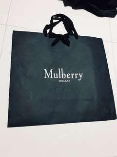 Large Mulberry Paper Bag hand made in England