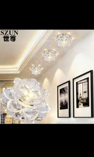 Crystal ceiling light