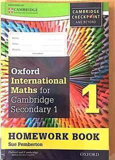 Oxford International Math for Cambridge Secondary 1