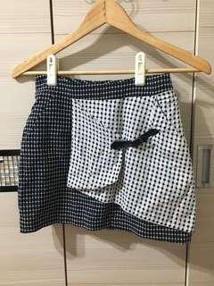 🚚 韓版拼接格子裙
