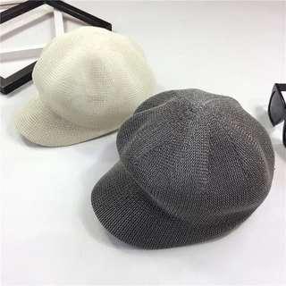 白色貝雷帽