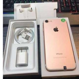 iPhone 7 32gb Rosegold Openline & Complete package.