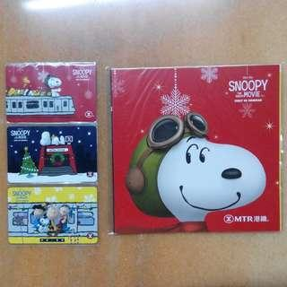 MTR 港鐵 x Snoopy:The Peanuts Movie 紀念車票 (連封套)