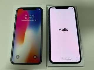 10/10 condition iPhone X 64GB space grey in warranty