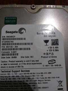 🚚 二手 希捷 硬碟 Seagate 200G SATA 7200 轉