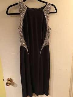 Form fitting black dress