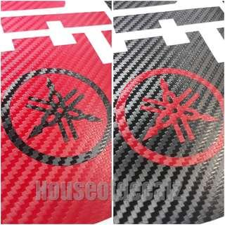 Slim iu unit 3D Red or Black Carbon Fibre with Yamaha Logo