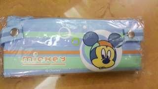 🚚 全新MICKEY雙層鉛筆袋