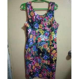Floral Bodycon Dress (S-M)
