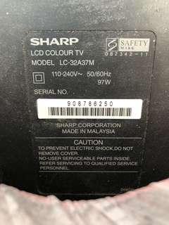 "Sharp 32"" Multisystem LCD TV *Faulty"