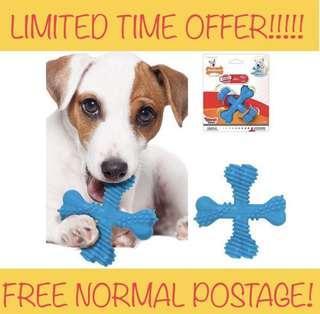 "SALES!!!!! BRAND NEW Nylabone Dura Chew ""X"" Bone Beef Flavored Dog Chew Toy SMALL"