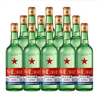 北京紅星 二鍋頭 56度 大 15支 500ml 白酒
