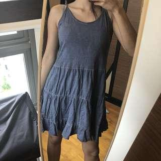 MNG denim babydoll dress