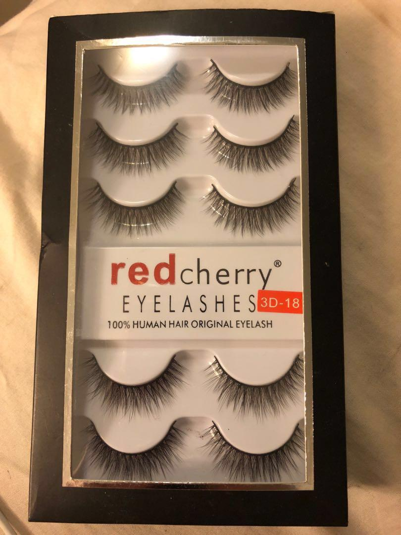 5 Pack Red Cherry Fake Lashes