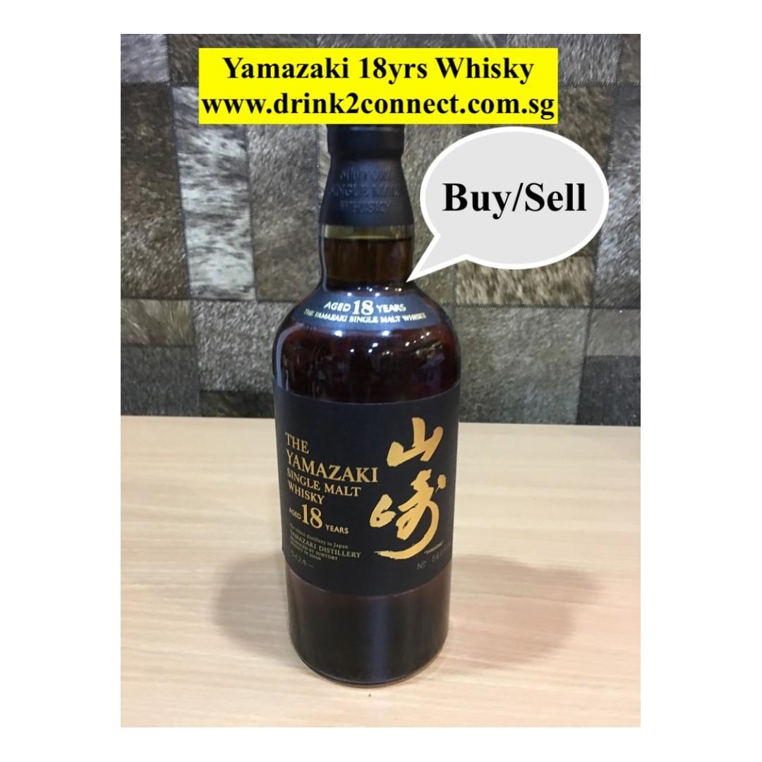 700ml Yamazaki 18yrs Whisky at www drink2connect com sg