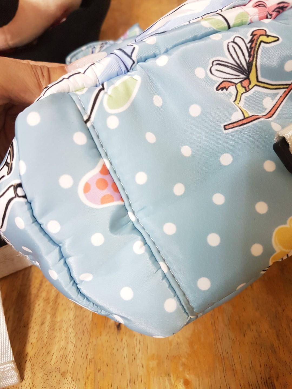 迪士尼 愛麗絲 質感後背包(水藍色)