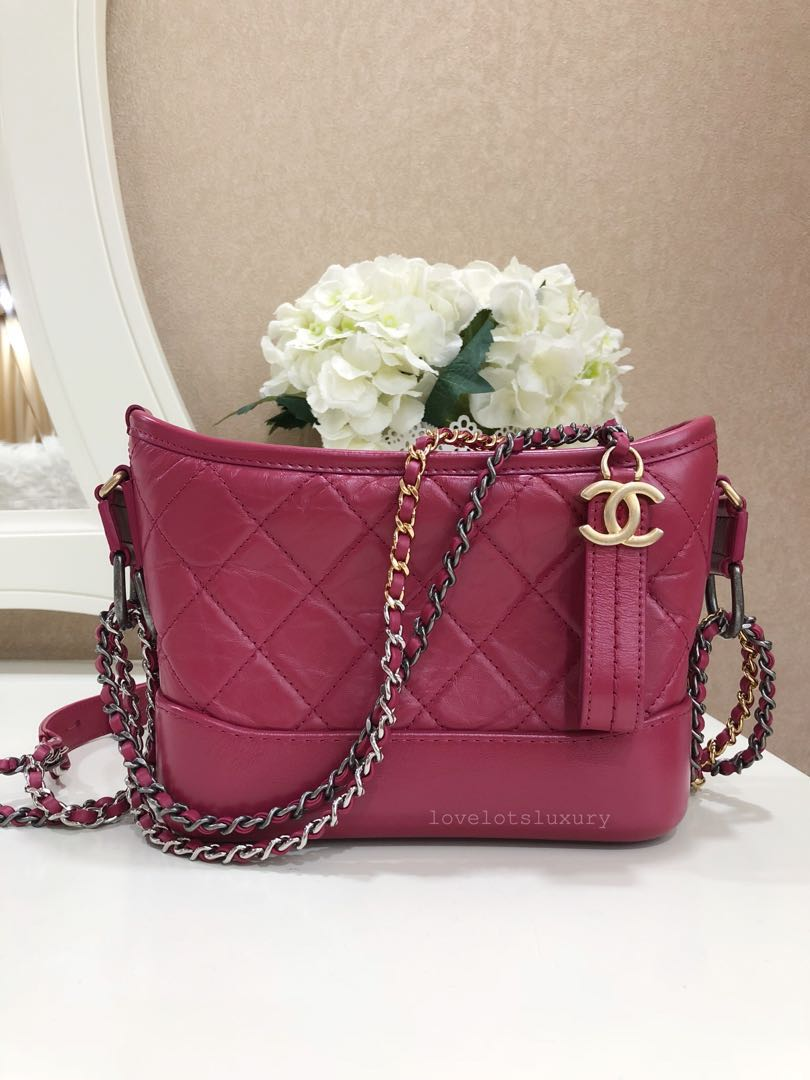 a2de6c71dd4e 🌸 Brand New Chanel Quilted Gabrielle Small Rose Pink Aged Calfskin ...