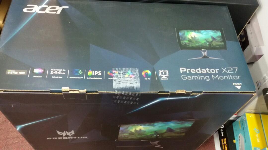 Acer predator x27 HDR, G - sync, 4k, ips ,144hz, Electronics