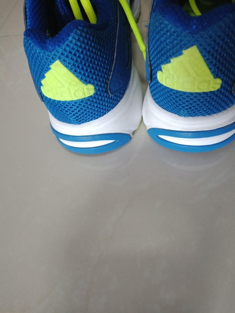 Adidas Cloudfoam blue and neon yellow