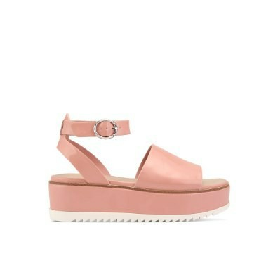 Aldo platform sandals wedges in pink