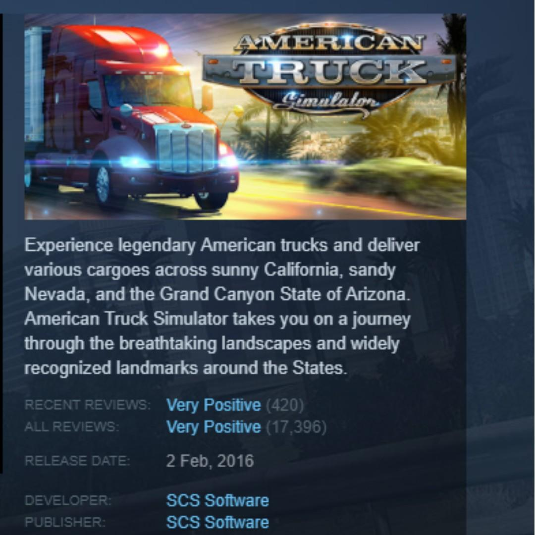 American Truck Simulator w Free DLC Map Provided!, Toys