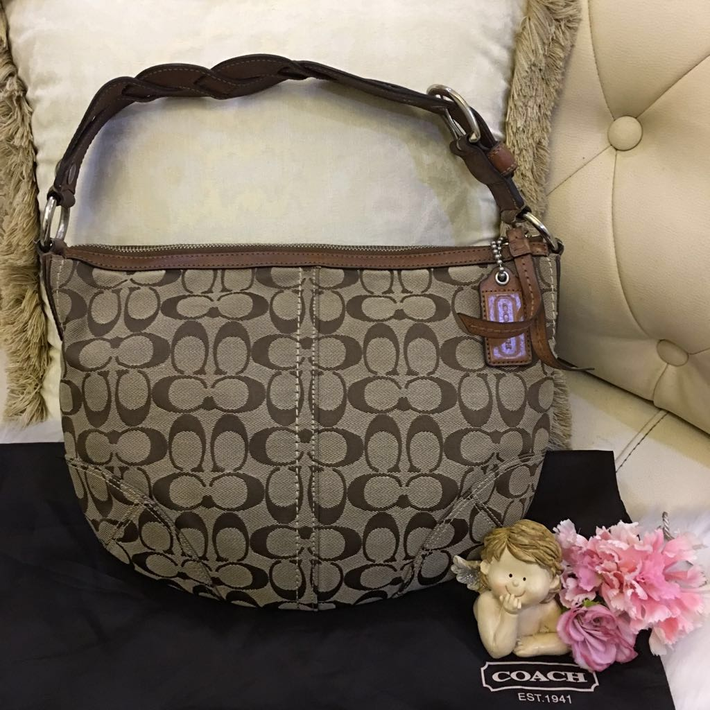 c0fa916fce Authentic COACH Soho Signature Hobo Shoulder bag 11858