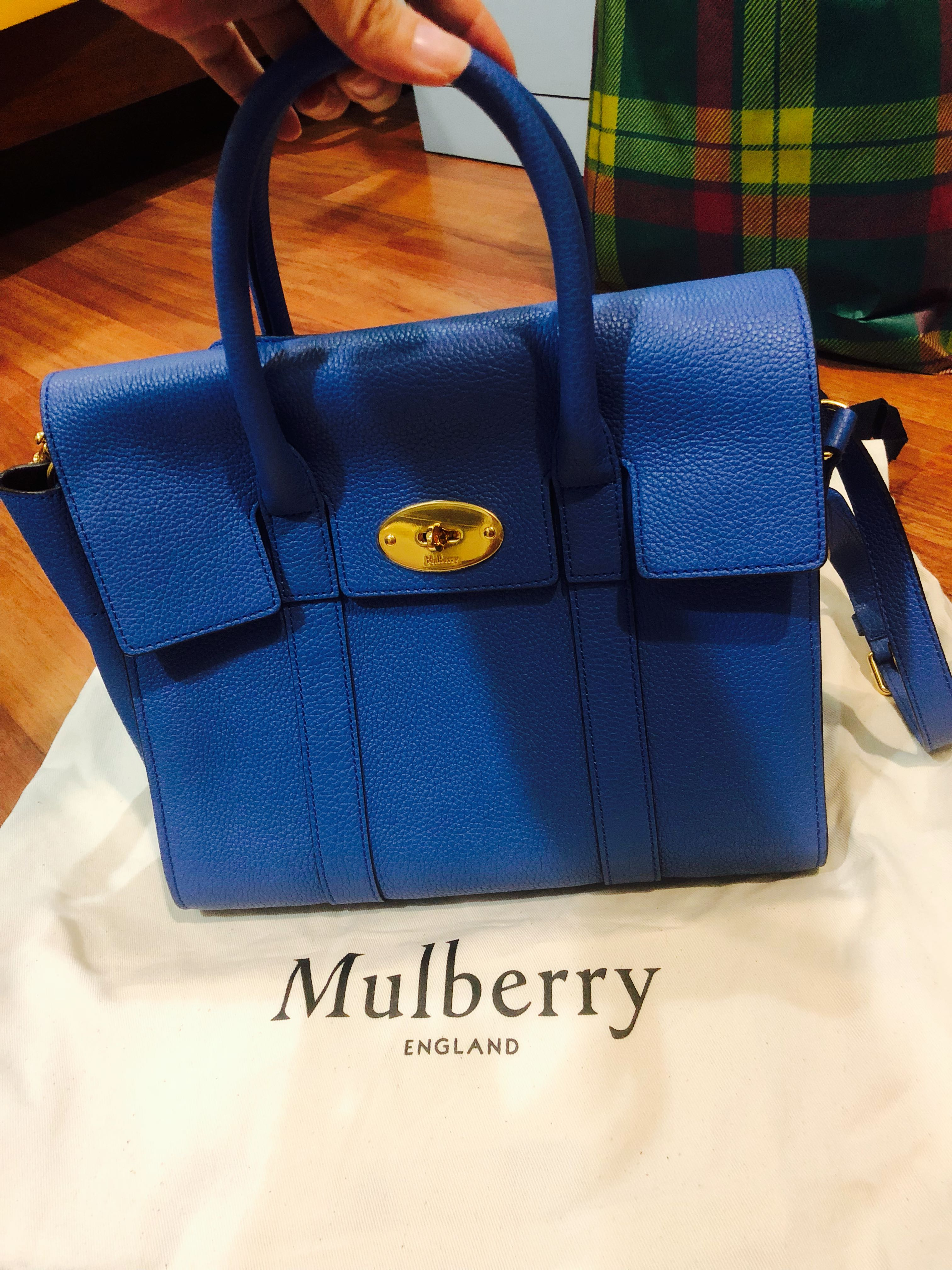 cd36020821 Authentic Mulberry Bayswater Bag in Blue, Women's Fashion, Bags ...