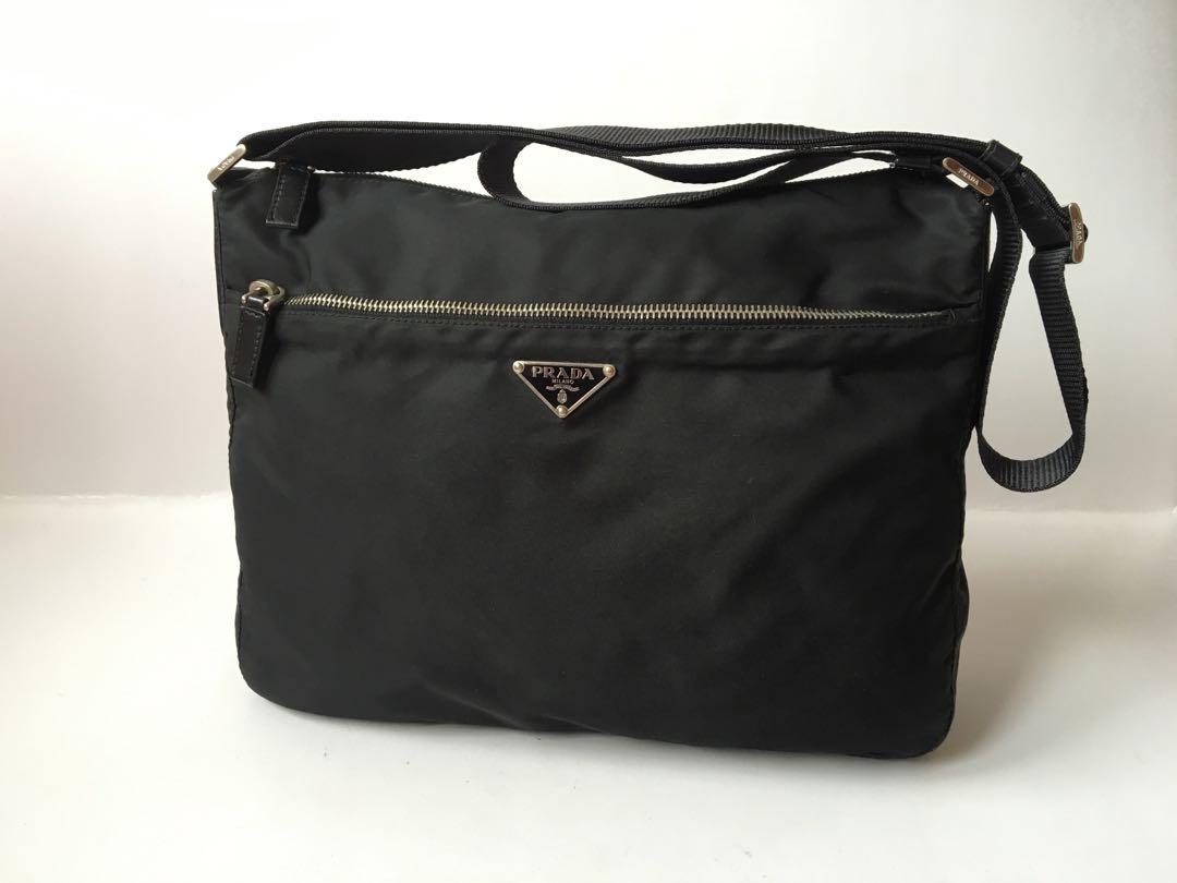 5695f1d6153af Authentic Prada Tessuto Nylon Cross Body Sling Bag