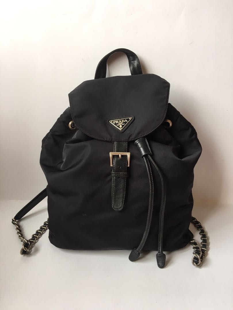 1912fe9692aa02 Authentic Prada Vintage Chain Backpack, Luxury, Bags & Wallets ...