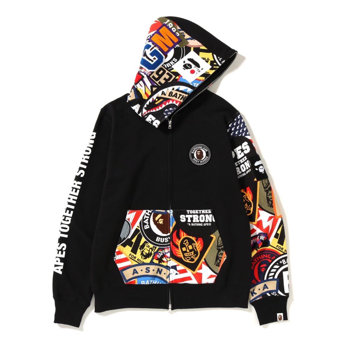 1958b6bada9e BAPE PATCHED SHARK FULL ZIP HOODIE
