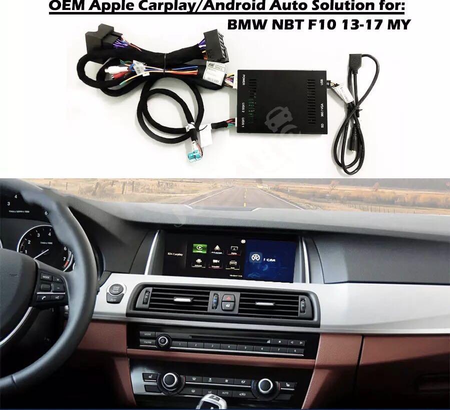 BMW 1/2/3/4/5/6/7/X1/X2/X3/X4/X5/X6 OEM Apple Carplay Android Auto Solution  Upgrade IOS Airplay Retrofit Box for Plug and Play