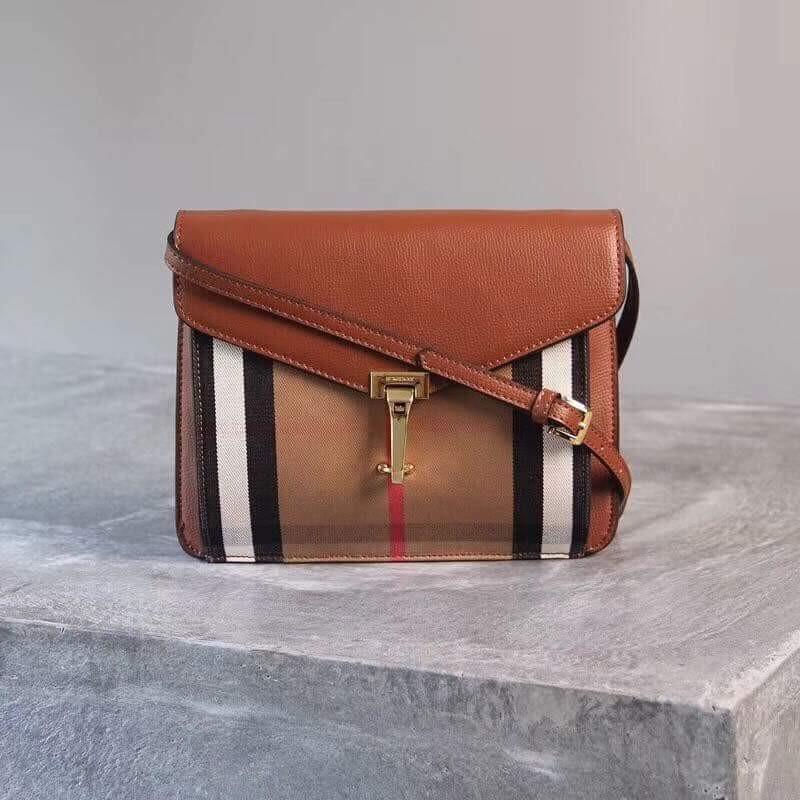 a25ae24f0741 Burberry Small Macken House Check Crossbody Bag