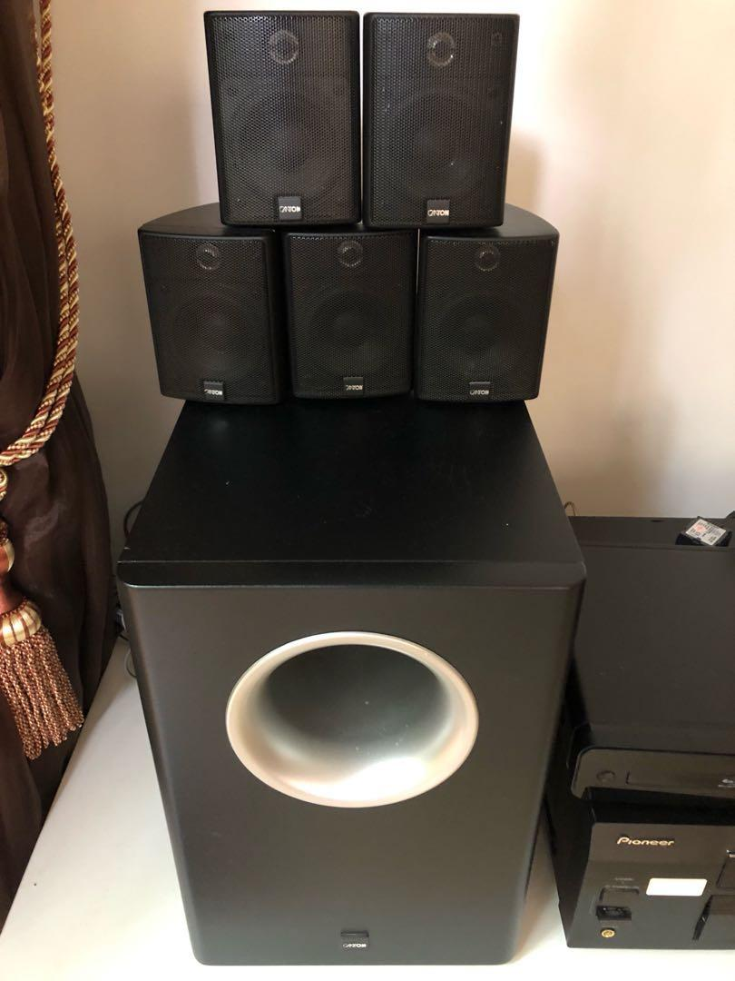 Canton MX cinema system and subwoofer, Electronics, Audio on