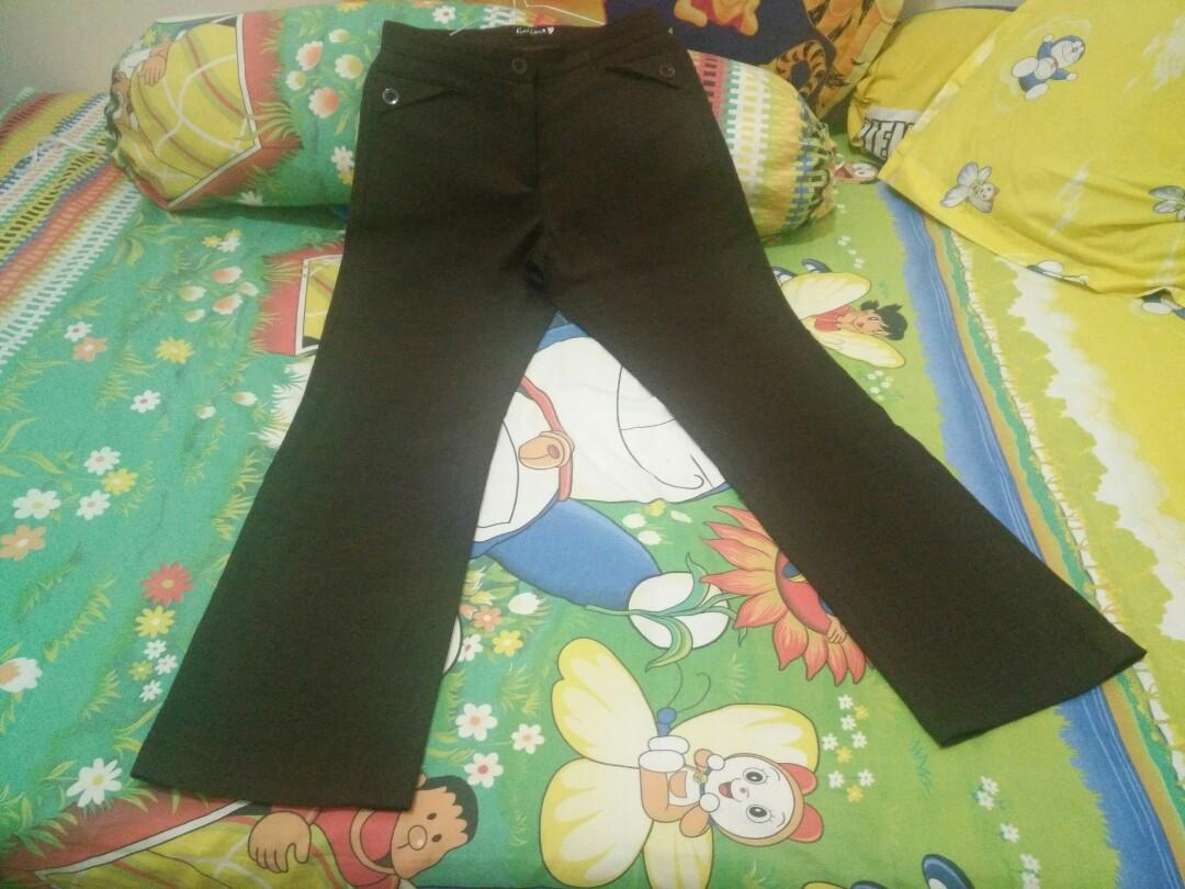 Celana Kantor Coklat Fesyen Wanita Pakaian Bawahan Di Chocochips Lorine Pants Black Hitam L Carousell