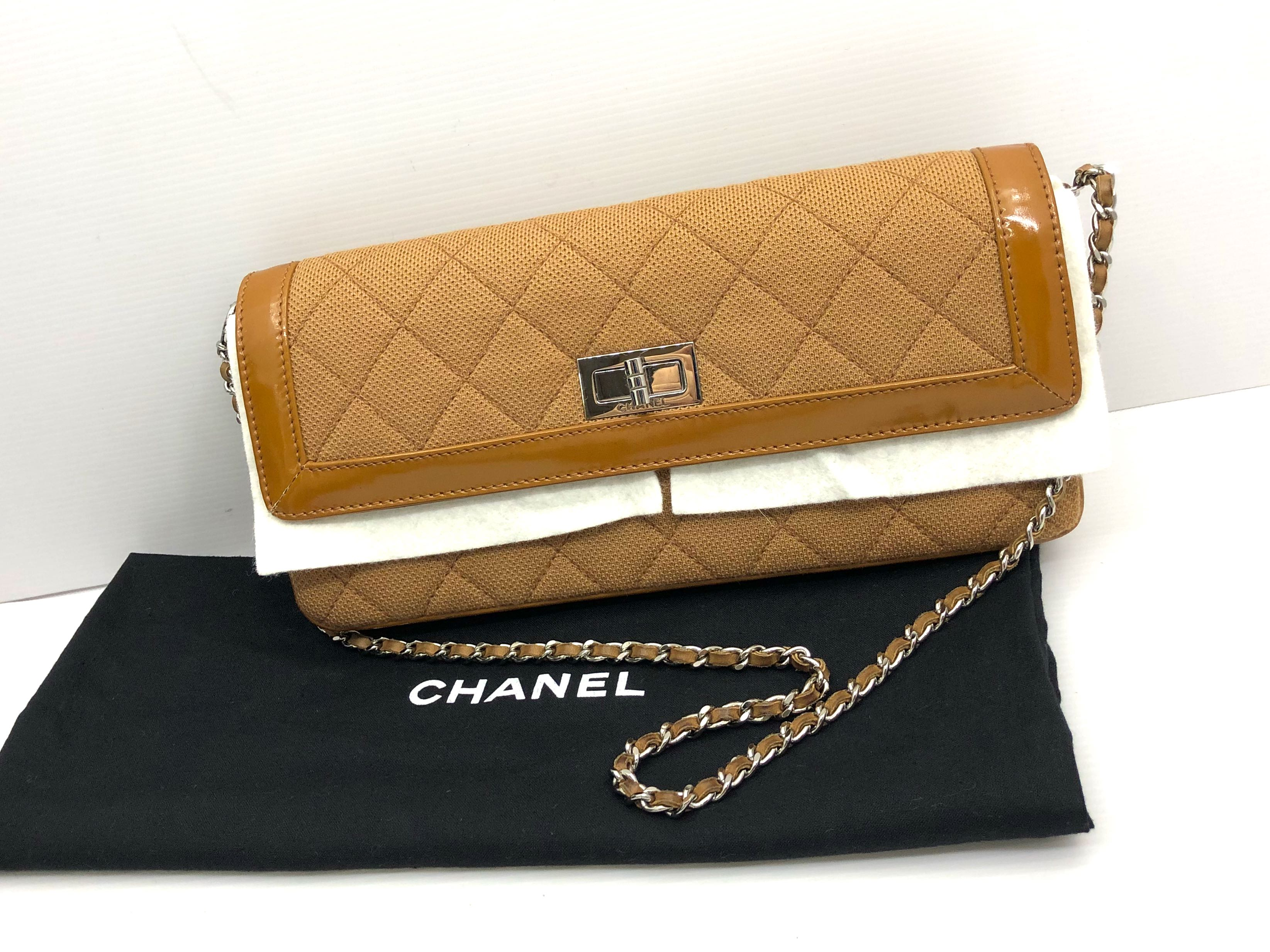 69f287cc293d CHANEL 2.55 CANVAS CHAIN BAG 187003386, Women's Fashion, Bags ...