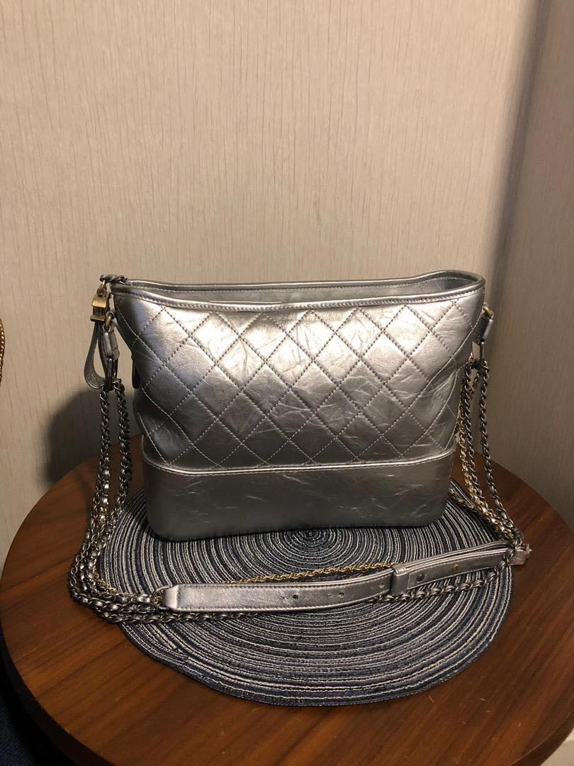 944be60fe8b6fe Chanel Gabrielle Large Metallic Silver Calfskin., Luxury, Bags & Wallets,  Handbags on Carousell