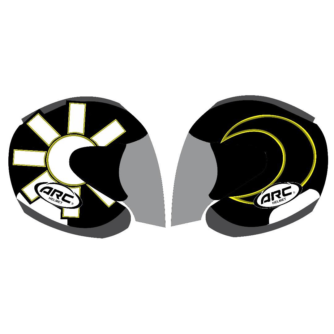 Custom sticker arc ritz helmet 04 motor di carousell