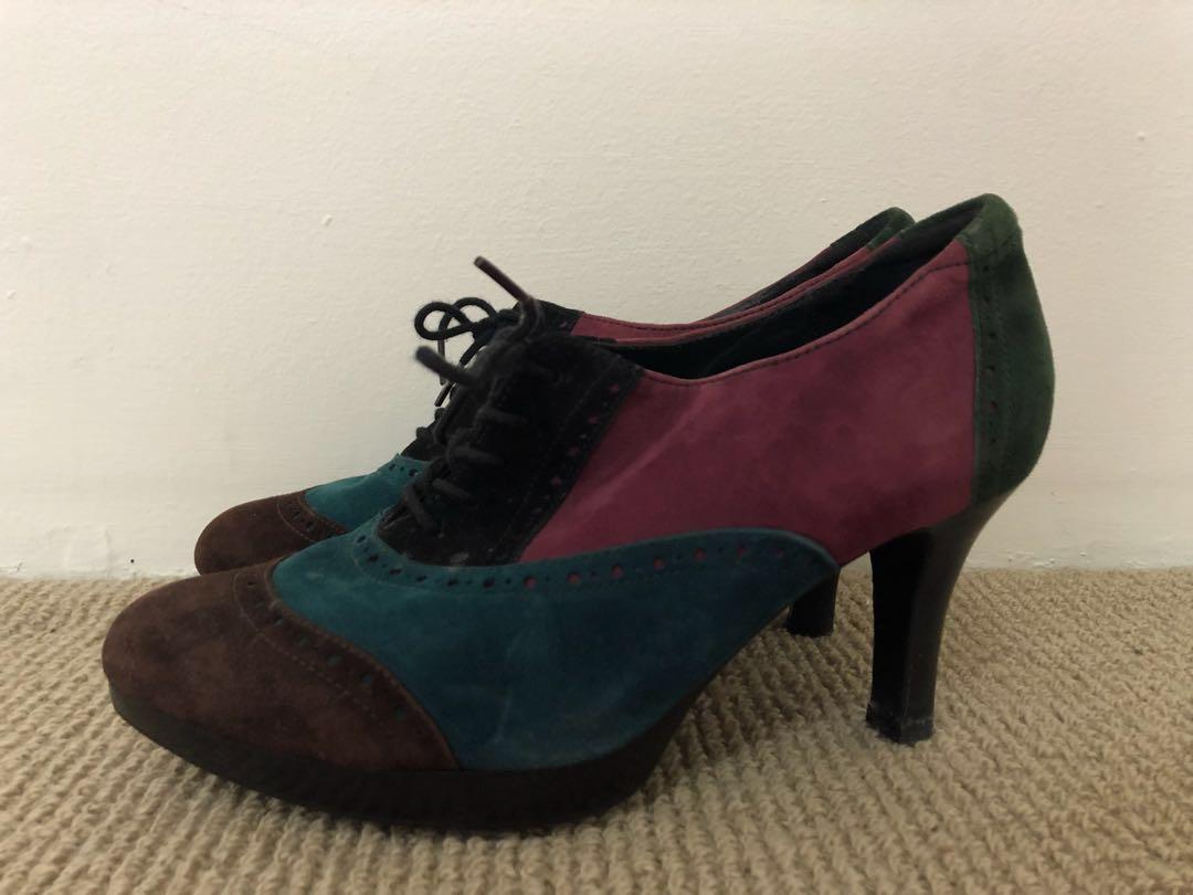 Cute suede heels 38 AU7