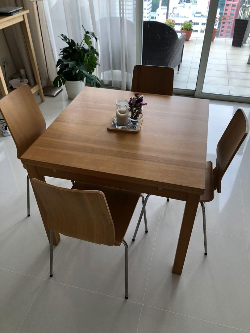 Dining Table 4 Chairs Furniture Tables Chairs On Carousell