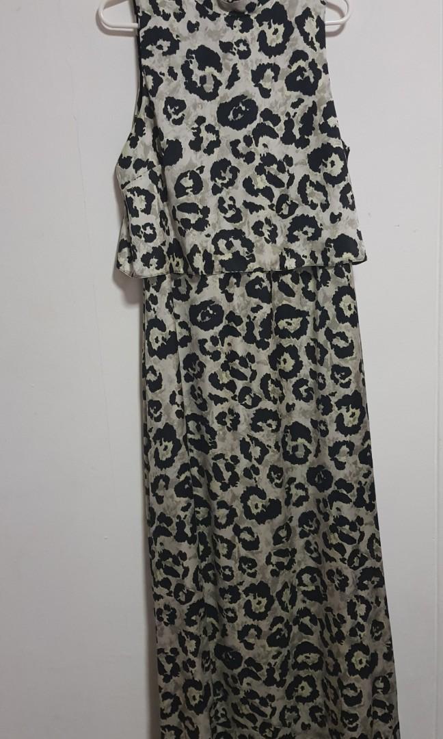 3e4decaeaea9 Dorothy Perkins leopard print maxi dress, Women's Fashion, Clothes ...