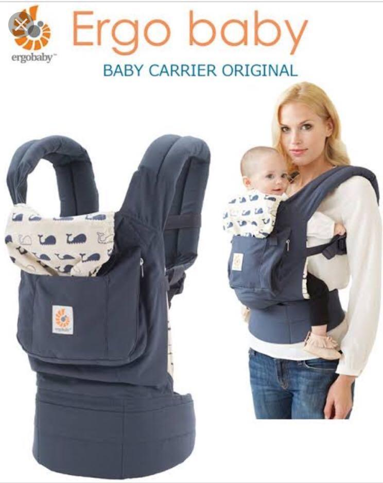 best website e21d5 4ac70 Ergo Baby Original Baby Carrier Marine Design on Carousell