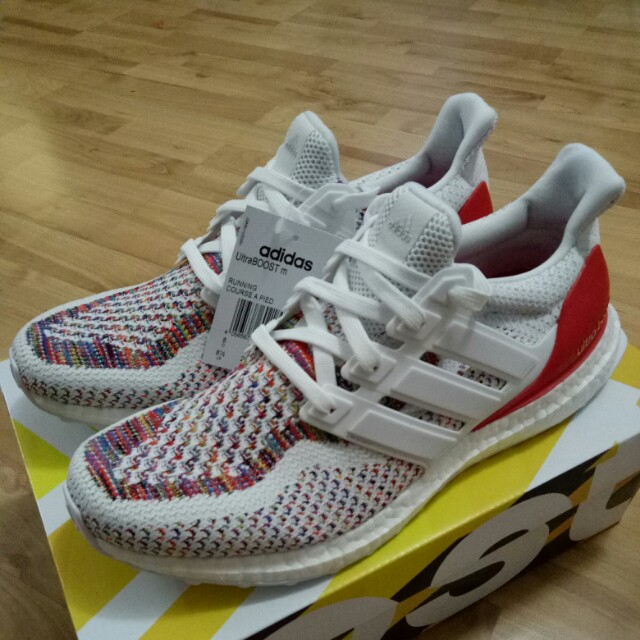 cdefc5389ebff 🔥UK8🔥 Adidas Ultra Boost 2.0 White Red Multi Color Multicolor ...