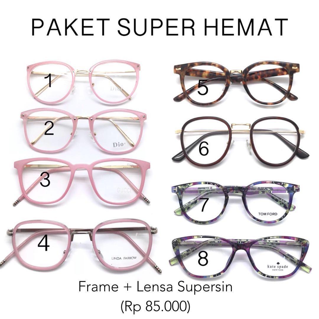 Frame kacamata bestseller model terbaru pria dan wanita harga termurah  dengan lensa minus antiradiasi a02ad70913