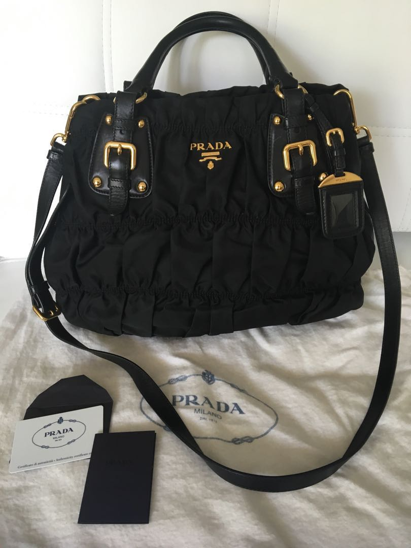 0729008bd77ec9 ... promo code for further reduce prada tessuto gaufre nero bn 1792 luxury  bags wallets handbags on ...